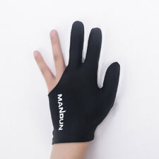 Professional Black Spandex Snooker Billiard Cue Glove Pool Left Hand 3-Finger