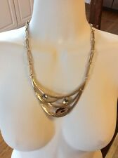 $65 Robert Lee Morris Gold Multi-Layer Necklace MA2