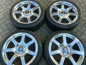 "21"" ROLLS ROYCE WRAITH ceramic polished alloy wheels continental tyres genuine"