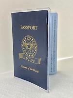 Passport Protector Clear Cover Vinyl Case, sturdy Plastic Holder Passport Sleeve