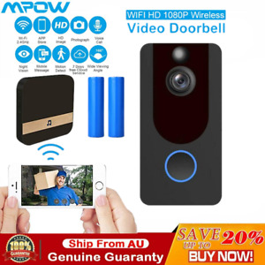 1080P WiFi Wireless Smart Phone Video Doorbell Intercom Camera Door Bell Chime