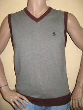 WORN ONCE MENS BOYS PURE NEW WOOL PENGUIN V NECK SLEEVELESS JUMPER MEDIUM 38/40