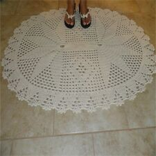 Handcrafted Crochet Area Rug 100%Cotton Brand New Imported French Country Chic