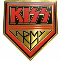 BRAND NEW KISS Metal Spinning Center Necklace and Collector Box