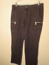 Michael Kors Womens Size 12 Black Jeans High Fashion Zipper Leg New Without Tags