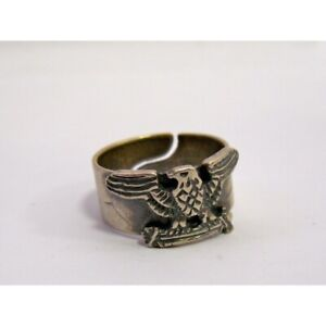 Silver 925 Fascisth Ring with eagle