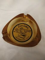 Promotional Ashtray Lew Lehrs San francisco CA Amber Glass