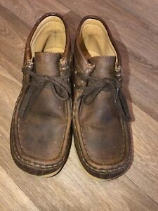 Clarks Orginal Kids 11.5w Brown Wallabee Lace Up Boot