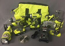 Ryobi 18-Volt ONE+ Lithium-Ion Ultimate Combo Kit (6-Tool) P884 [D]