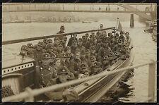 Foto-AK-RAD-Gruppenfoto-Uniform-Schiff-Wunstorf-Hannover-Brücke-