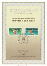 GERMANY DEUTSCHE BUNDESPOST BERLIN 1985 SPORT PROMOTION FUND FIRST DAY ISSUE