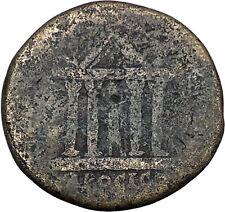 CARACALLA Nicopolis ad Istrum Rare Ancient Roman Coin Temple of Serapis  i48475