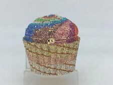 Designer cupcake rainbow crystal evening bridal bag - NIB