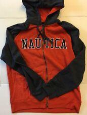 NAUTICA Mens Sweatshirt Jacket Hoodie  Zip Hooded L Brand New NWT Autumn Orange