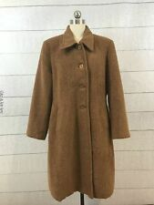 Vintage 100% Pure Alpaca Collection Womens Brown Coat Size XL 46 Fitted