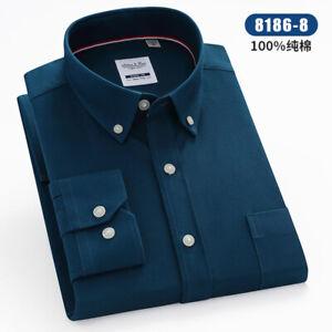 New Mens Dress Shirts Formal Slim Fit Long Sleeves Business Casual Shirts Tops