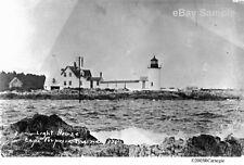 1930's Goat Island Light House Cape Porpoise Lighthouse