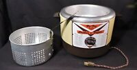 Vintage Reliable HY-FRY Electric M-200 Combination Deep Fryer Slow Cooker Chrome