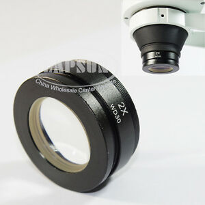 0.3X 0.5X 0.75X 2X Barlow Auxiliary Objective Lens For Stereo Microscope M48