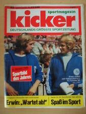 KICKER 22-11.3. 1974 Erwin Helmut Kremers Essen - Schalke 2:5 HSV-Duisburg 2:0