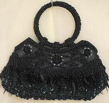 hand bags from beads and sequins,blue,cream,grey,green,gold,silver,red,copper