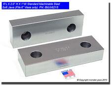 "6 x 2 x 1"" Standard Steel Machinable Soft Jaws for Kurt 6"" Vises USA (6MJV621S)"