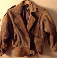 Women's Small Brown Suede Jacket