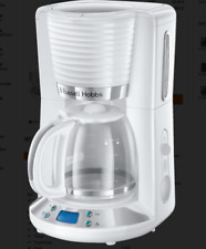 RUSSELL HOBBS Inspire White Glas Kaffeemaschine Timer 10 Tassen 1100 W