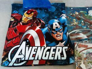 Avengers Hooded Poncho Cotton Swim Towel + Armbands and Bag