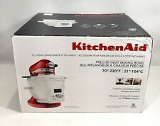 KITCHENAID 6 Quart Precise Heat Mixing Bowl KSM1CBT Tilt Mixer Attachment NEW
