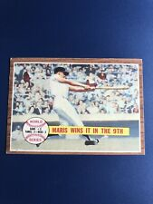1962 Topps #234 World Series Game 1, Maris Wins It In 9th, EX-EXMT