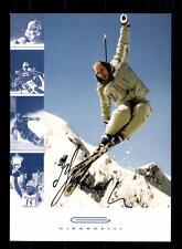 Marc girardelli autografiada mapa original firmado ski alpin +a31715
