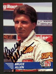 Bruce Allen #41 signed autograph auto 1991 Pro Set NHRA Car Card