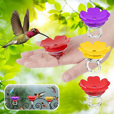 Handheld Hummingbird Feeder Flower Hummingbird Ring Feeder for Outdoors Feed`yu