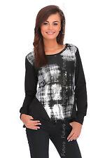Ladies Asymmetric Peplum Top Jumper Pullover Blouse Shirt Size 8-14 FC2101