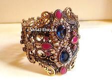 Bolywood etnico gioielli, Bracciale Bangle, Schiavo Bracciale, braccialetto Indiano Polki, Kada