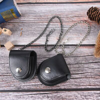 vintage pu leather chain pocket watch holder storage case box pouch bag YEZY