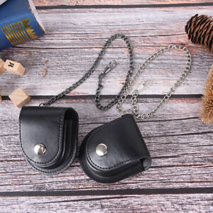 vintage pu leather chain pocket watch holder storage case box pouch W0 FwPTU ak