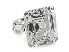 925 Sterling Silver Solitaire Ring Elizabeth Taylor Inspired 3 Stone Size-9 -Cls