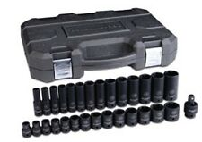 "GEARWRENCH 84925N 3/8"" Dr 6Pt Metric, Standard/Deep Impact Socket Set, 29pc"