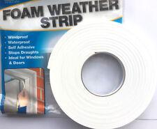 151 Foam Draughtproofing Weather Strip Draft Excluder - Twin Pack - 2 x 5m- FAST