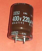 2x org. Nippon Chemi-Con  220uF 220µF 400V 105 C KMG Series Qualität