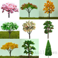 10pc Miniature Tree Plants Fairy Garden Model Dollhouse Ornament Flowe Pot Decor