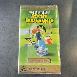 The Adventures of Rocky and Bullwinkle LA GRANDE MOOSE VHS RARE clamshell video
