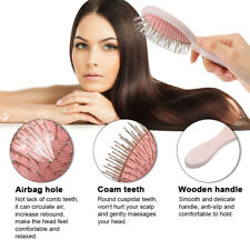 Airbag Comb Wooden Anti-Static Detangling Hairbrush Scalp Massage Care Comb J2E5