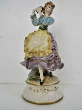 Capo Di Monte Marked Porcelain Dancing Maiden 14.5 Inches Figurine Made Italy