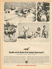 Publicité 1964  JOHNSON moteur hors bord