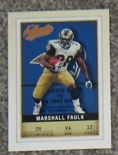 2002 Fleer Authentic - ST. LOUIS RAMS MARSHALL FAULK - NR MINT - FREE SHIPPING!