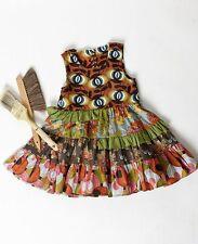 NWT Matilda Jane Girls Size 4 PLATINUM CHEYEANNE Tank Dress Tiered