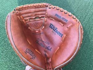 Wilson A2514 Carlton Fisk Catcher's Mitt Right Hand Vintage, Great Condition